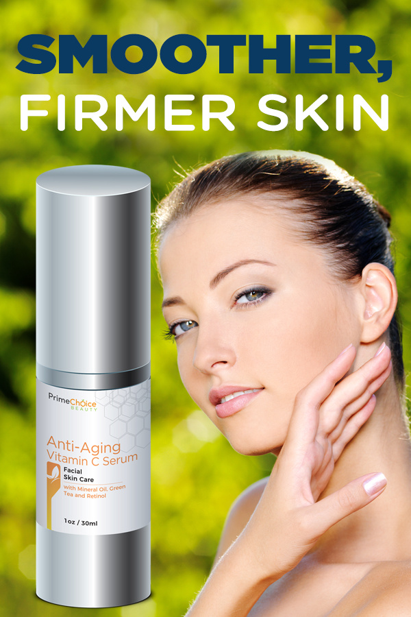 Prime Choice Beauty Advanced Natural Enhancement Vitamin C Serum leaves skin smoother and instantly firmer. Skin Care Tips | Tips for Skin Care | Skin Care Products | Skin Care Products Reviews | Natural Skin Enhancer | Beauty Tips #skincare #reviews