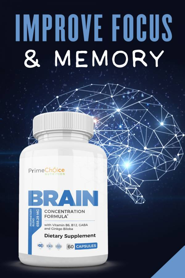 With Prime Choice Nutrition's Brain, you can live life with the energy and awareness you desire to make each day the best it can be! Do Brain Supplements Work | How to Think Clearly | Natural Brain Supplements | Brain Health Tips | Ideas for a Healthy brain | Natural Brain Boosters #brain #health
