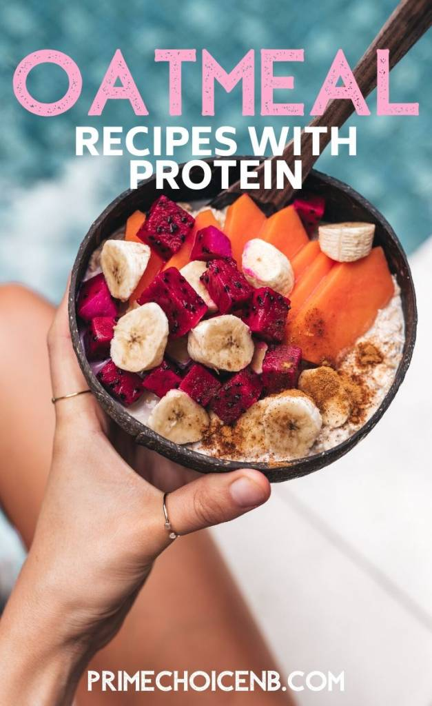 Oatmeal recipes with protein are perfect for a healthy diet, are easy to make, and help you stay full and burn fat. Oatmeal Recipes with Protein Powder | High Protein Oatmeal Recipes | Oatmeal Smoothie Recipes | Healthy Breakfast Recipes | Weight Loss Recipes | Snack Recipes with Protein #breakfast #protein