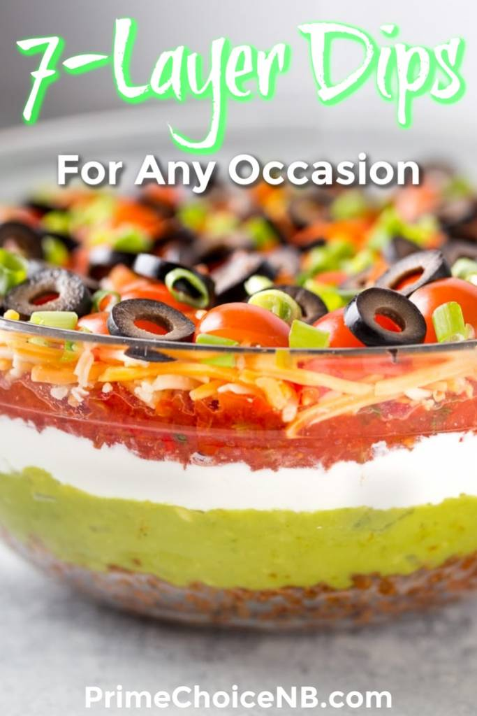 7 layer dip recipes are popular party food, but not always diet-friendly! Make one of these healthy 7 layer dips that are healthy and tasty too! Game Day Recipes | Holiday Recipes | Recipes for Parties | Dip Recipes for a Crowd | Healthy Dip Recipes #party #recipe